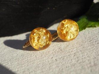純金箔入りイヤリングの画像