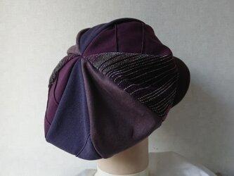 魅せる帽子☆ふんわり♪グラデーションキャスケット~ボルドー&ブラウンの画像
