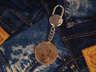 コイン・キーホルダー イギリスハーフクラウンの画像