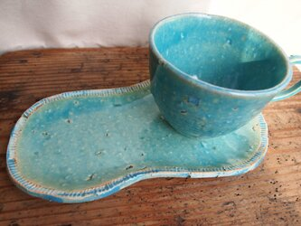 トルコ釉カップ&ソーサーBの画像