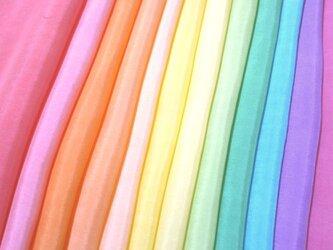 (X)正絹 胴裏 手染め羽二重12枚 はぎれセット カラフル・晴れ着向き・七五三髪飾り つまみ細工用布・吊るし飾りにの画像