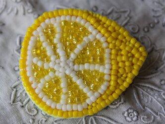 檸檬(レモン)ミニブローチの画像