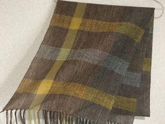 手織りストール A34の画像