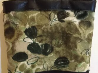 (参考品)思い出の布と牛革のトートバッグ お買上げは出来ません。の画像
