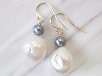 K14GF baroque water pearl pierceの画像