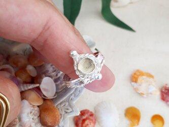 【17号】lemon quartz♪silver925 ring の画像
