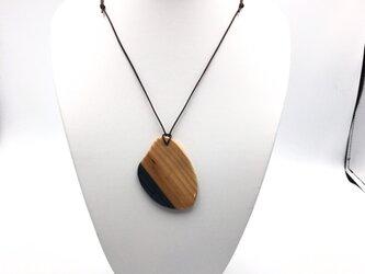 天然木製ネックレス 米つぶの画像