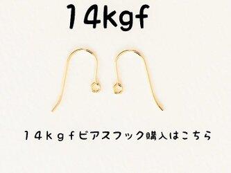 【14kgfのフックピアスへ変更】14金ゴールドフィルドピアスフックの画像
