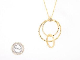 ネックレス[Triple rings/GOLD]の画像