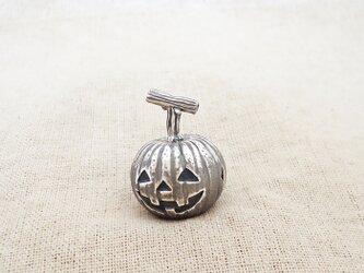 卓上の鈴 『 ハロウィンかぼちゃ 』 銀製(シルバー925)の画像