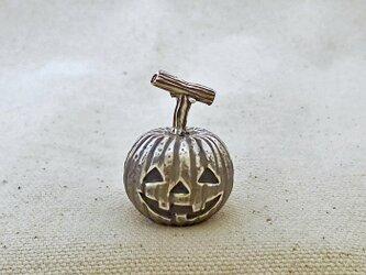 銀製の鈴 『 ハロウィンかぼちゃ 』 (シルバー925) 卓上用の画像