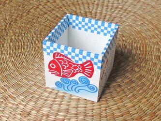 おめで鯛焼きペン立て(ブルー)の画像