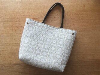 【D様専用】北欧手織りトートバッグ(ベージュグレー)の画像