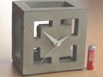 コンクリート置き時計 D-typeの画像