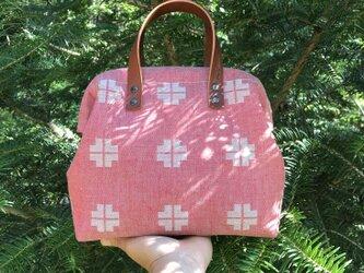 Boston bag S size [Växbo Lin]  赤と生成りのクロスの画像