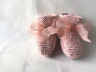 ベビーブーティー  ウール×シルク ピンクの画像
