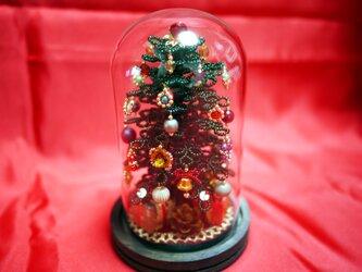 2019新作・ビーズのクリスマスツリー(深緑)サイズ(S)の画像