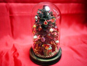 2019新作・ビーズのクリスマスツリー(混緑)サイズ(S)の画像