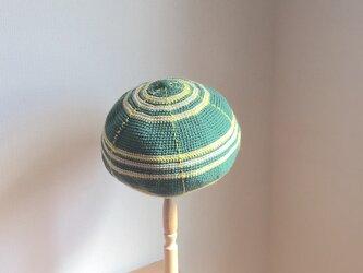丸い帽子・タータンチェック風 GRの画像