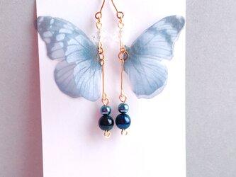 シフォンの黒蝶ピアス/イヤリングの画像