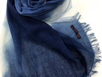 藍染ストールの画像