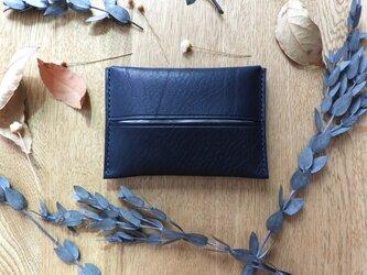 ポケットティッシュケース/イタリア革/ネイビーの画像