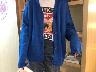 カーディガン セーター トップス ニット レディース 手編み 通勤 通学の画像