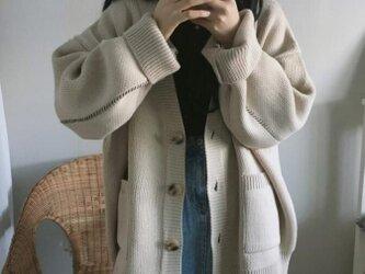 ☆着痩せ  カーディガン トップス ニット スクールカーディガン お洒落 ゆったり レディース 通学 通勤の画像