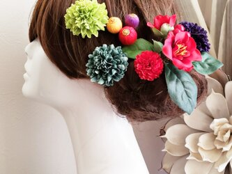 華雅 椿とマムと和ponボールの髪飾り9点Set No616の画像