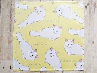 長毛猫のハンカチの画像