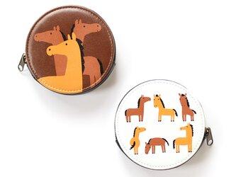馬 コインケースの画像