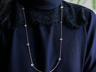 80cm★ハーキマーダイヤモンドのロングネックレス ~Alenkaの画像
