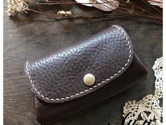 栃木レザーアコーディオン型お財布*DarkChocoの画像