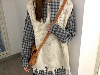 レディース セーター  手編み 着痩せ おしゃれ 軽やかな素材感です。の画像