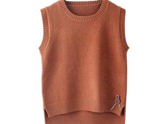 新作 チョッキ セーター トップス ニット ニットトップス 着痩せ おしゃれ ゆったり レディース 通学 通勤の画像