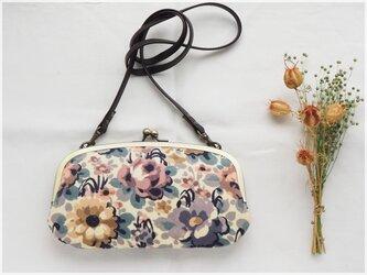 ■リバティー花柄コーデュロイの親子がま口お財布ショルダー■ mimi (co-pr)の画像