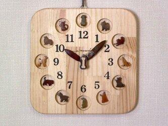 犬時計 25cm角の画像