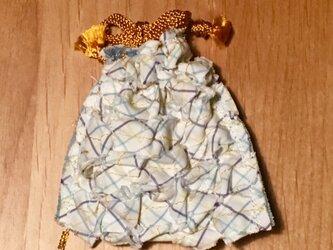 リボン・リ・ボーン Yシャツリメイクの巾着袋の画像