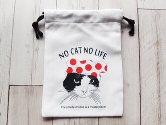 水玉CAT巾着の画像