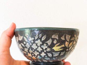 Kakiotoshi bowl - キンモクセイに鳥の画像