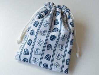 浴衣風情な将棋柄・巾着袋【 Simple 】の画像
