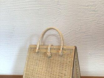 松葉編みバッグの画像