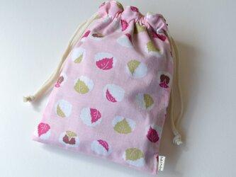 和菓子 桜餅 さくらもち・巾着袋【 Simple 】の画像