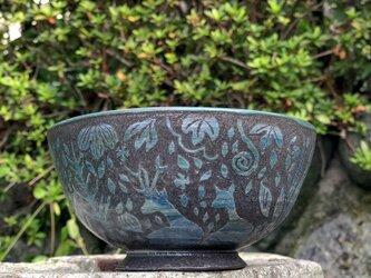 Kakiotoshi bowl - 寄り添う鹿の画像