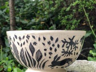 Kakiotoshi bowl - 野に黒うさぎの画像