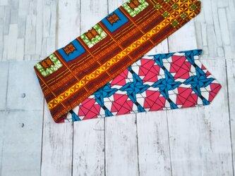 アフリカ布でテーブルセンターにも首巻きにもの画像