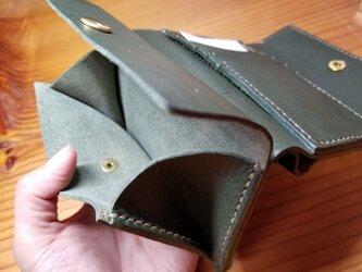(選べる革、ステッチ)オリジナル三つ折り財布の画像