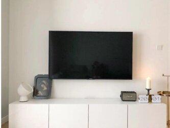 オーダーメイド 職人手作り 北欧モダン テレビボード ローボード テレビ台 白家具 モノトーン 天然木 LR2018の画像