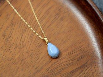 陶器の雫ジュエリー型ネックレス / ブルーの画像