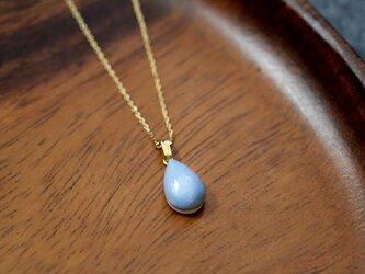 陶器の雫モチーフネックレス / ブルーの画像